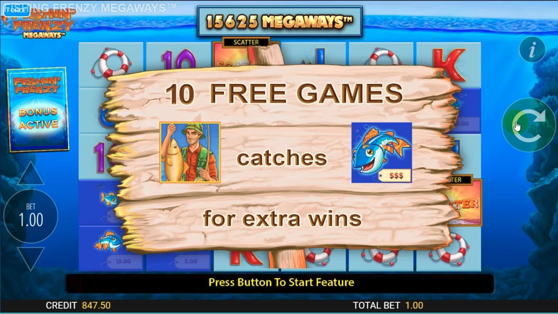 Fishin Frenzy MegaWays Bonus Games