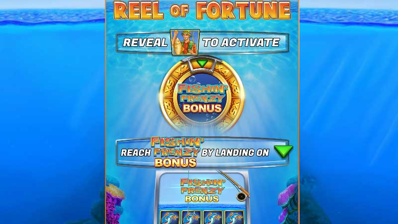 Fishin Frenzy Scratchcard Casino Game