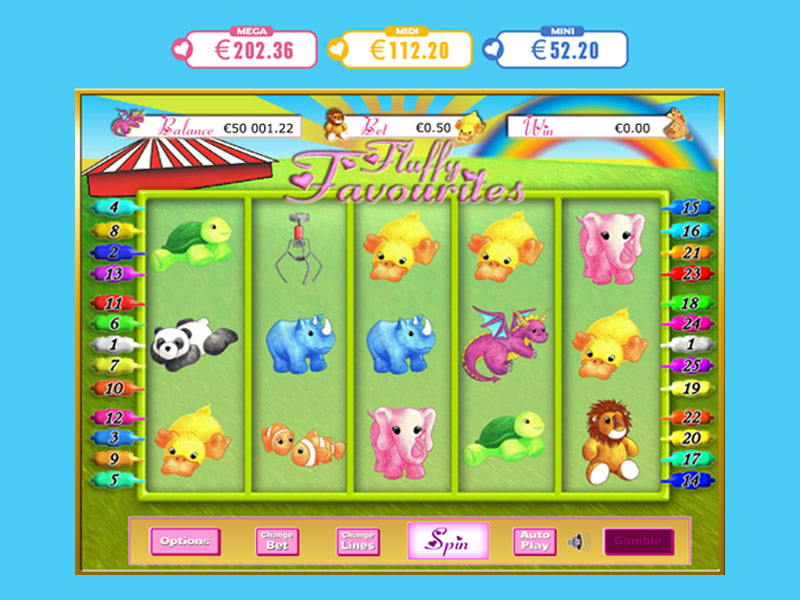 Fluffy Favourites Jackpot Slot Gameplay