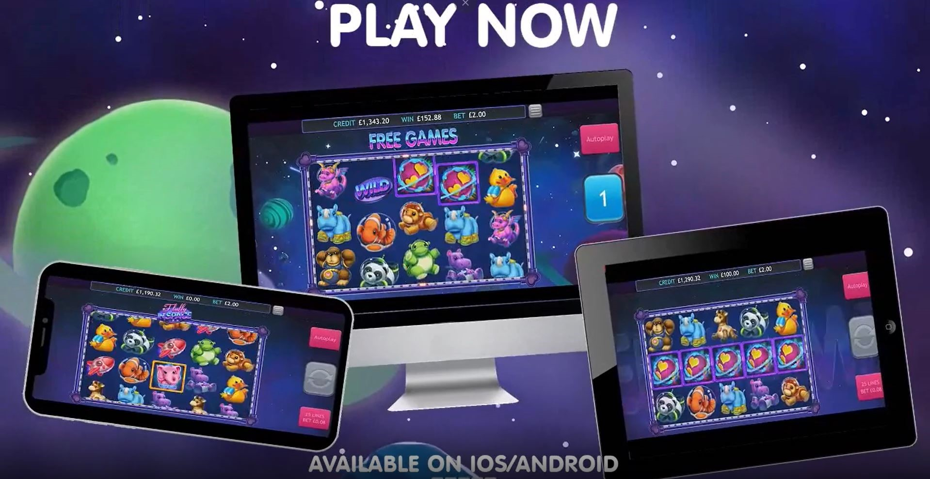 Fluffy in Space Mobile Slots