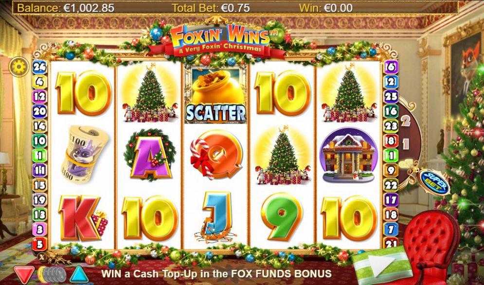 Foxin' Wins Christmas Slots Reels