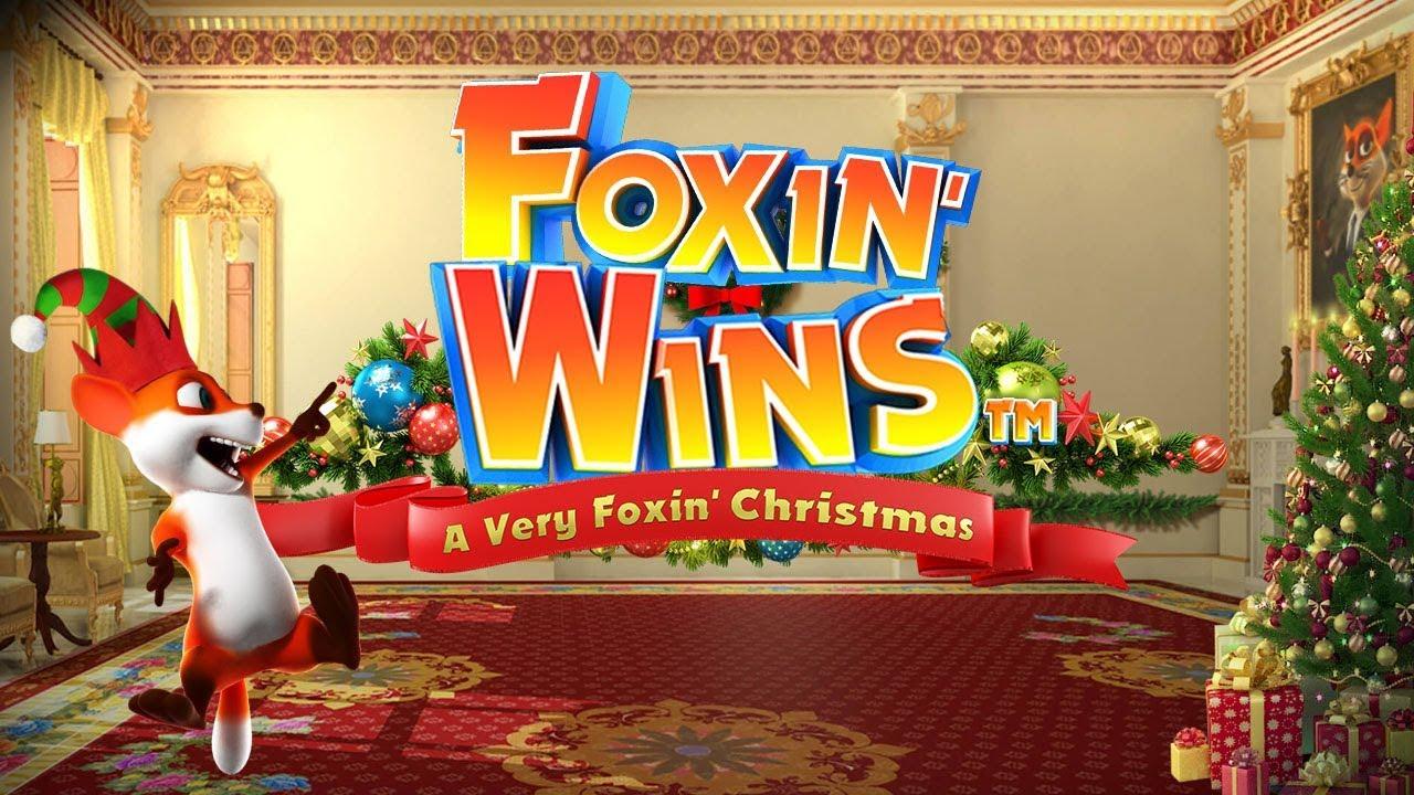 Foxin' Wins Christmas Slot Logo Umbingo