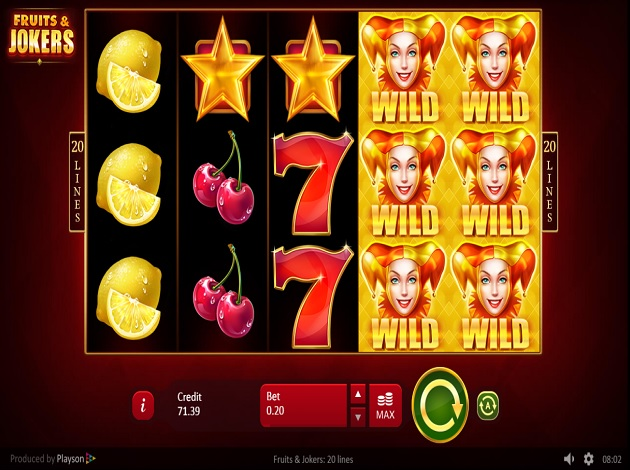 Fruits & Jokers Slots Game