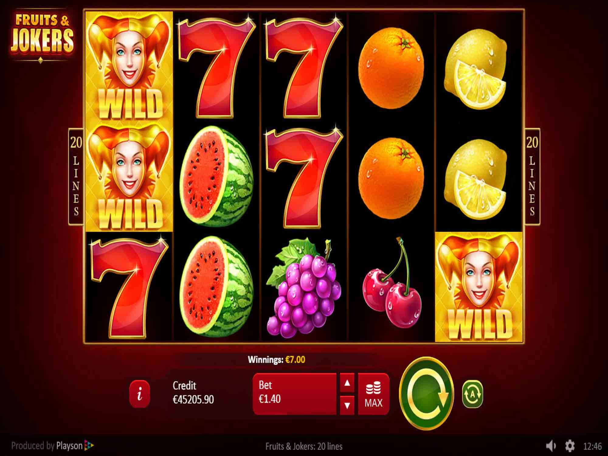 Fruits & Jokers Slot Game