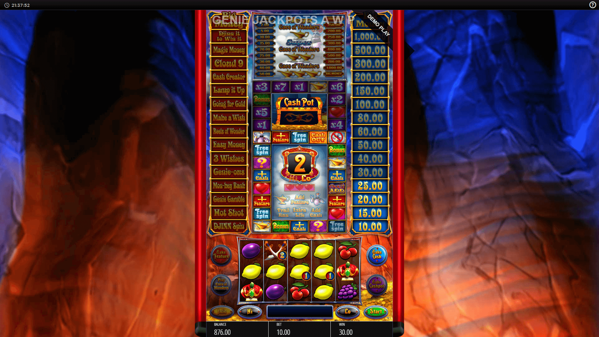 Genie Jackpots Cave Of Wonders Mobile Slots