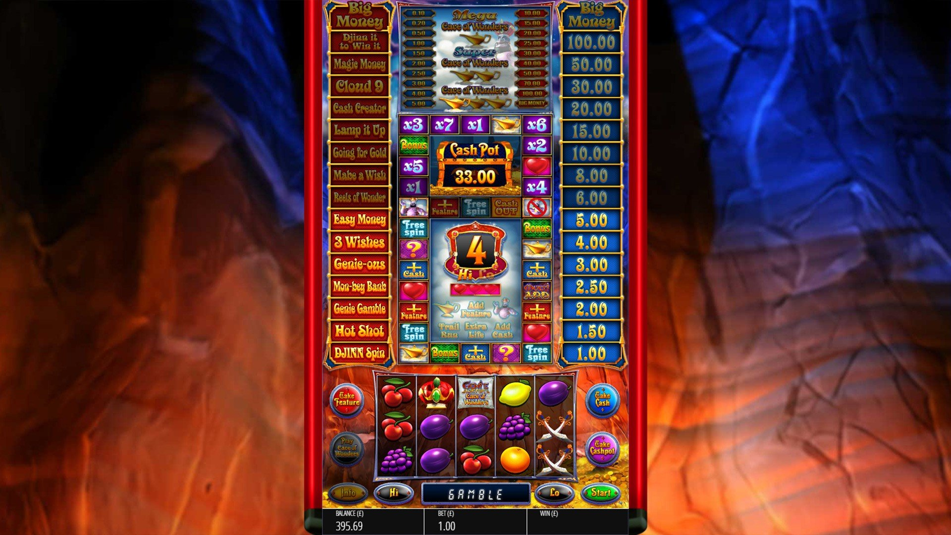 Genie Jackpots Cave Of Wonders Slots Reels