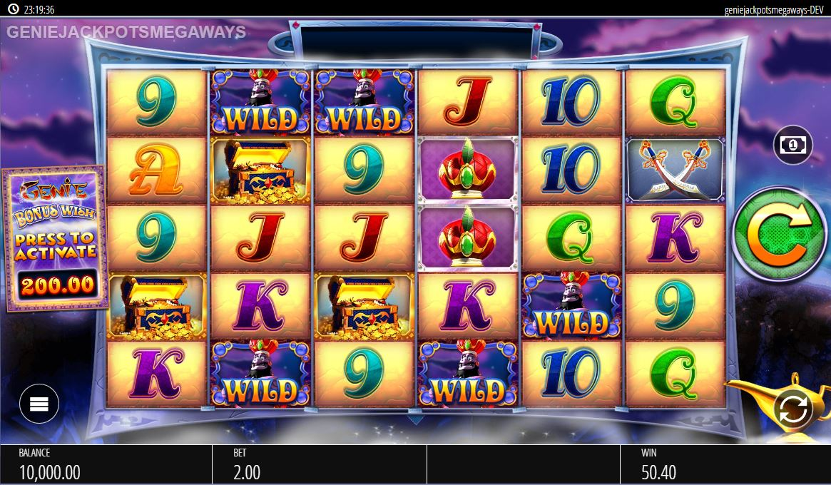 Genie Jackpots Megaways Slot Gameplay