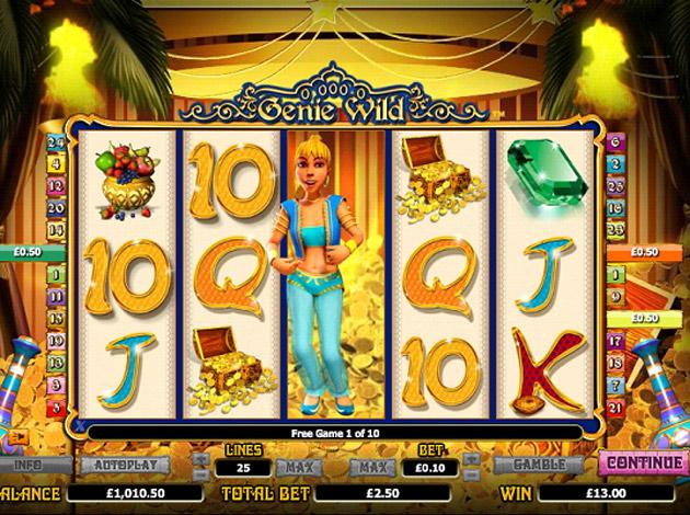 Genie Wild Slots Reels