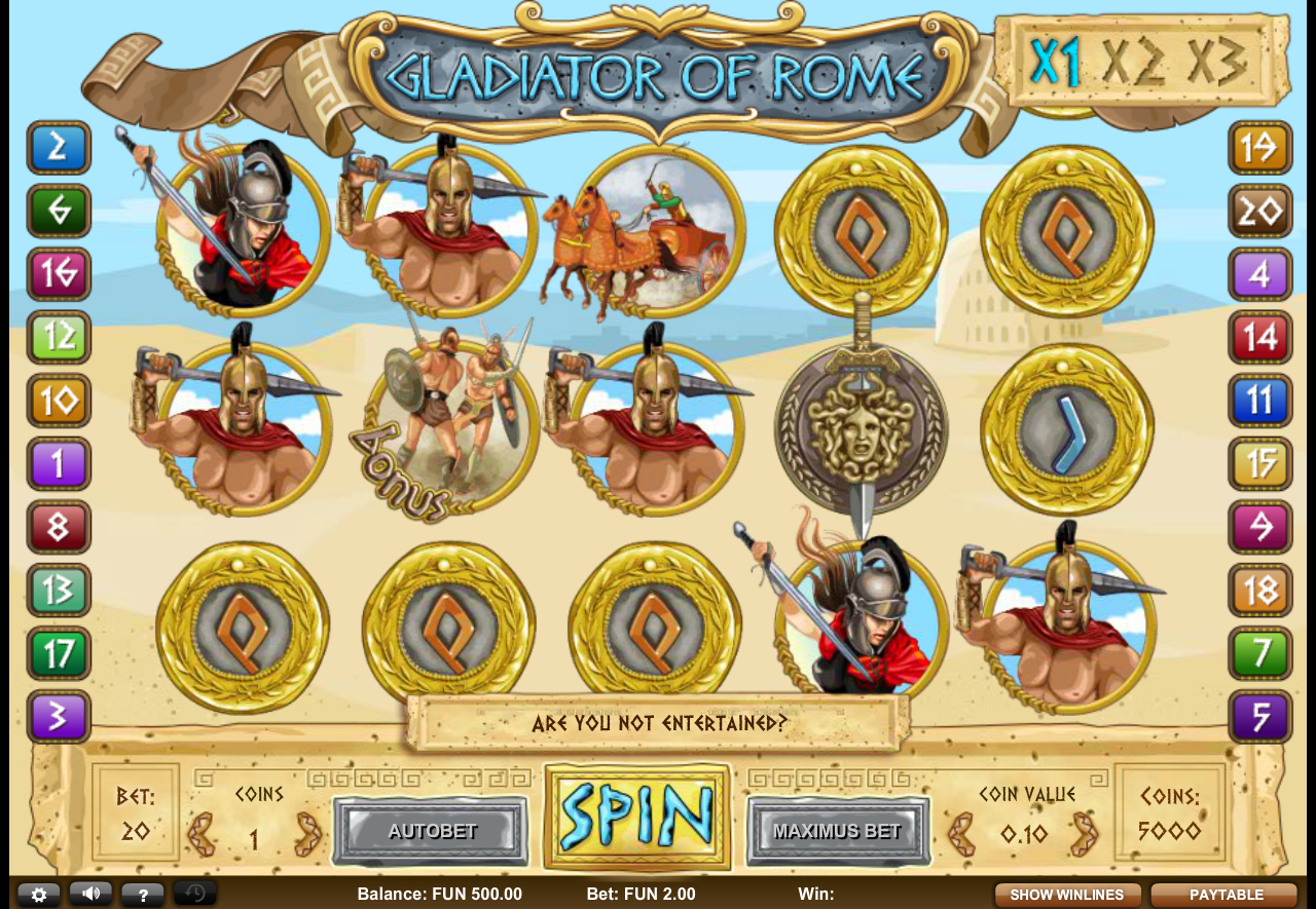 Gladiator of Rome Slot Games