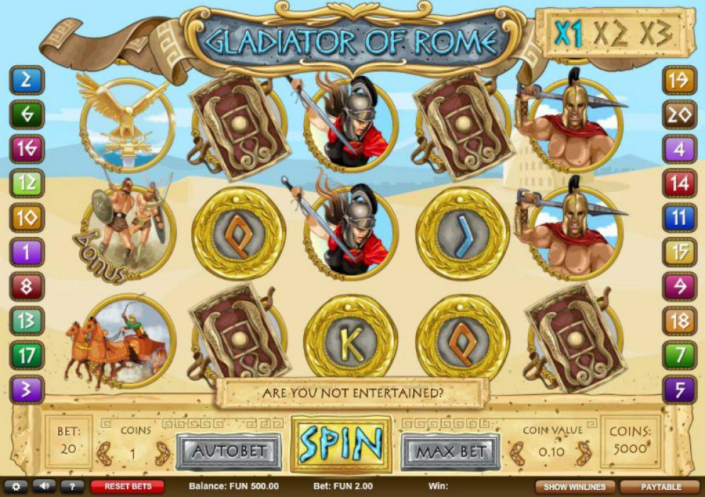 Gladiator of Rome Casino Game