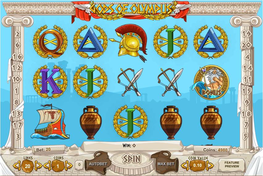 Gods of Olympus Slots Games