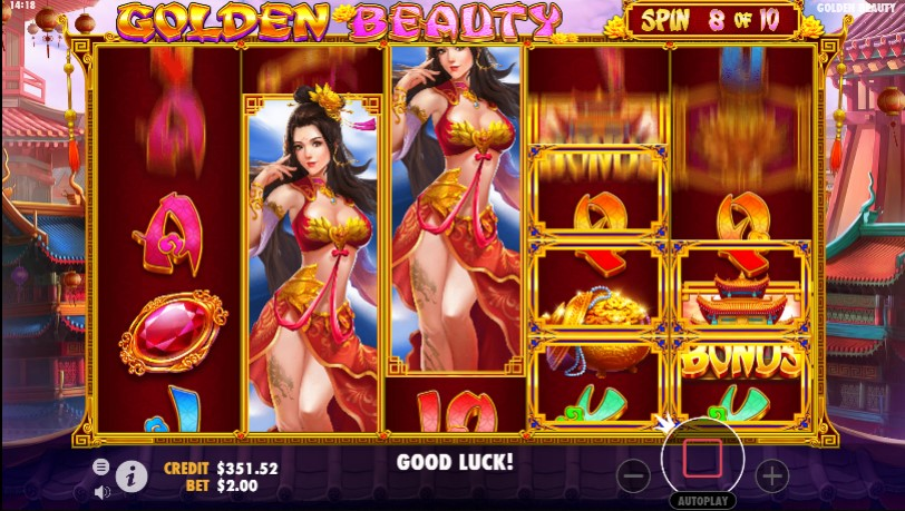 Golden Beauty Slots Gameplay