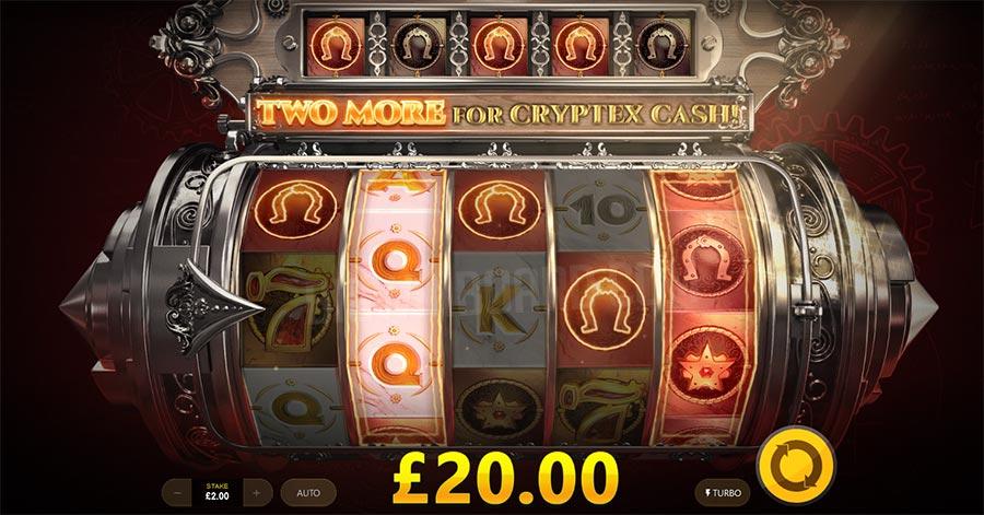 Golden Cryptex Slot Reels
