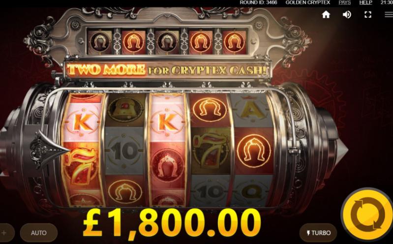 Golden Cryptex slots Big Win