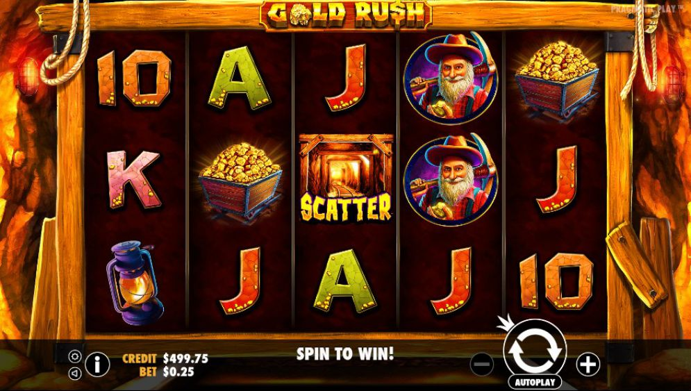 Gold Rush gameplay casino