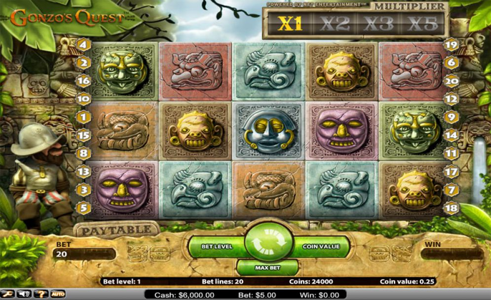 Gonzos Quest gameplay casino