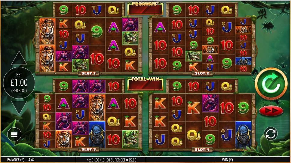 Gorilla Gold MegaWays Slot Game Play