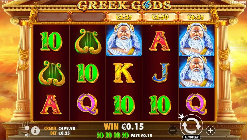 Greek Gods Slot Game Play