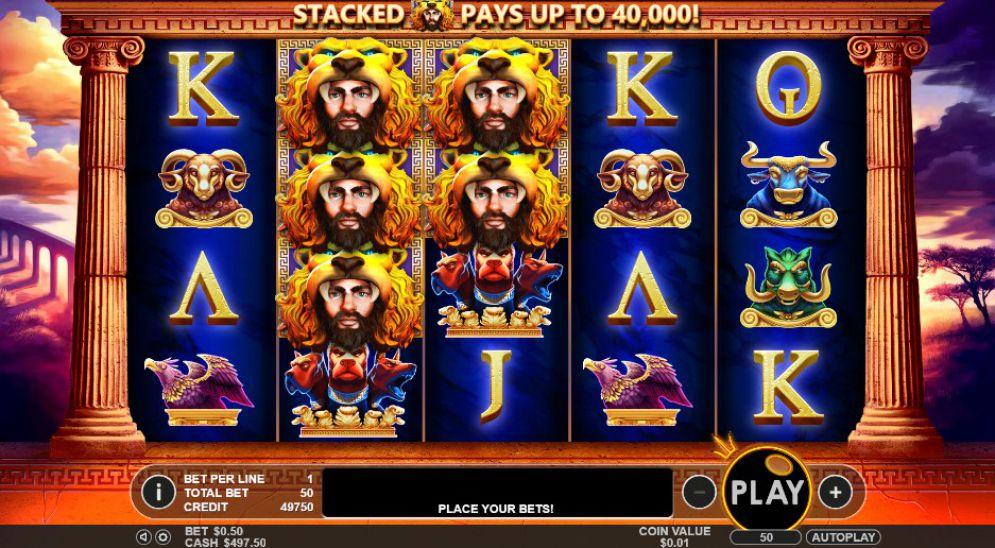 Hercules Son of Zeus Slot Gameplay