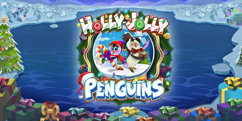 Holly Jolly Penguins Slot Logo Umbingo