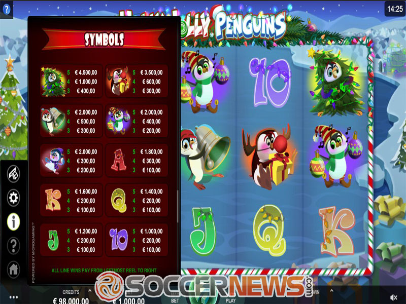Holly Jolly Penguins Slots Reels