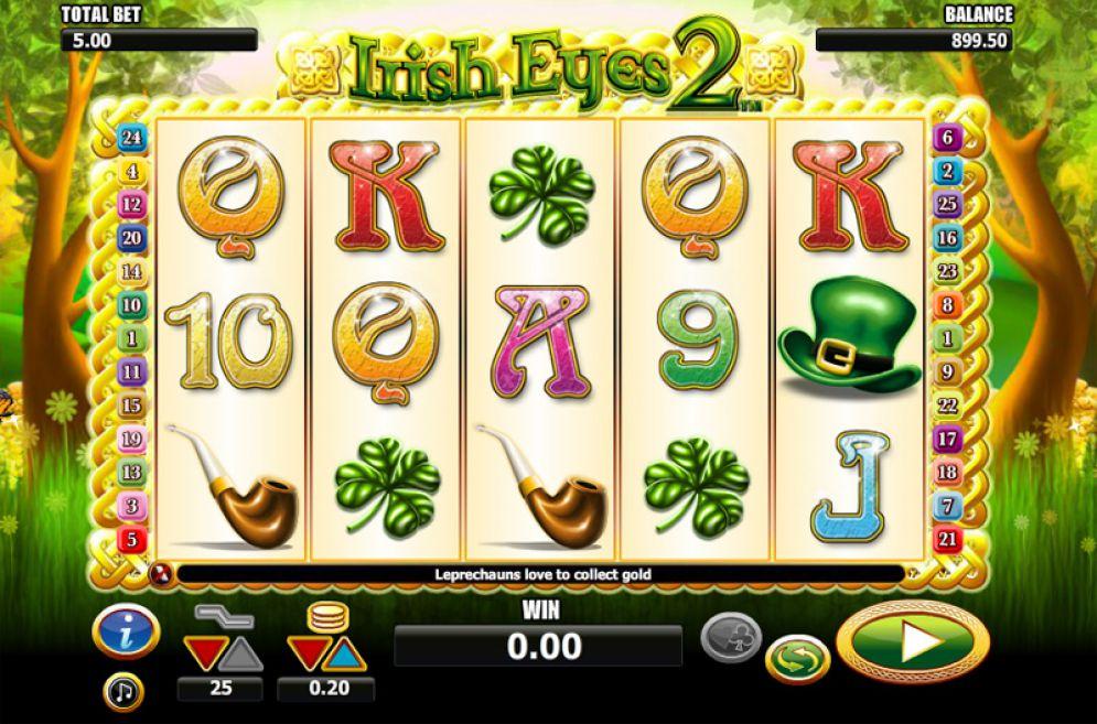 Irish Eyes slot gameplay