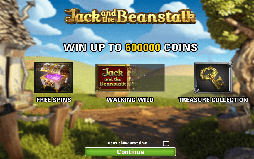 jack and the beanstalk slot bonus features