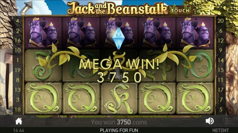 jack and the beanstalk slot mega win