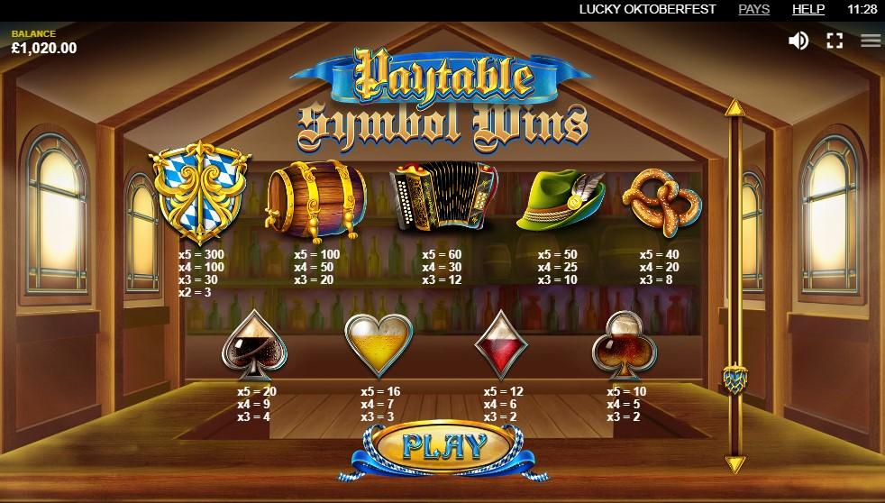 Lucky Oktoberfest Slots Symbols