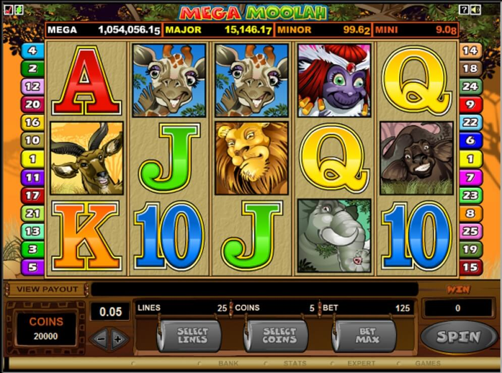 Mega Moolah slot gameplay