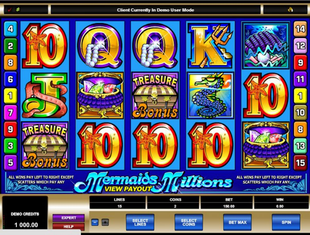Mermaid Millions casino gameplay