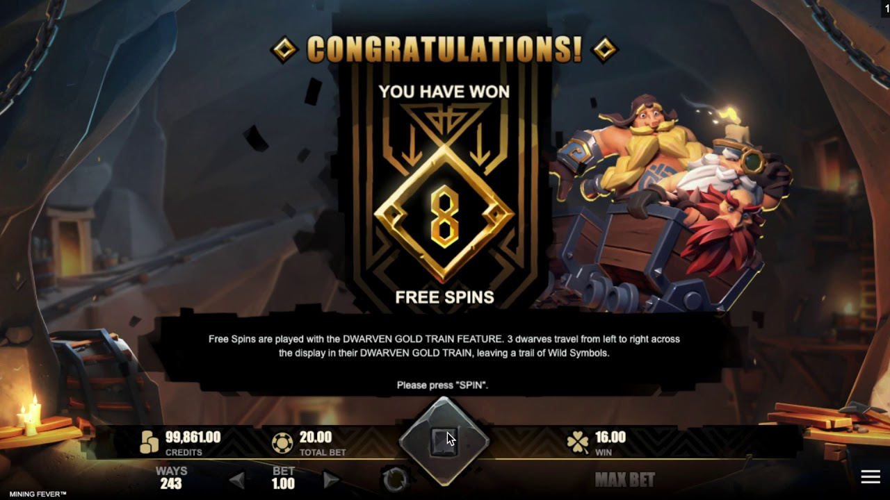 Mining Fever Free Spins Slots