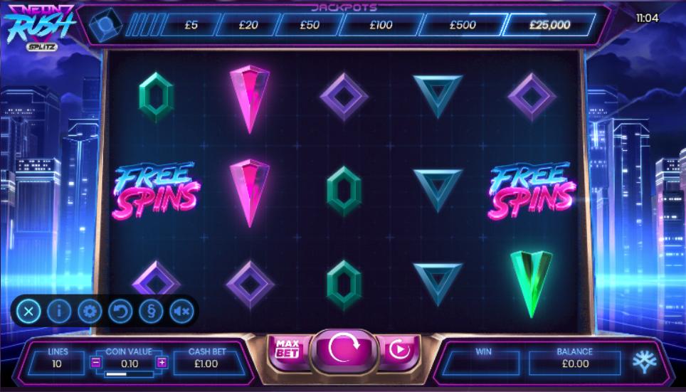 Neon Rush Slots Game