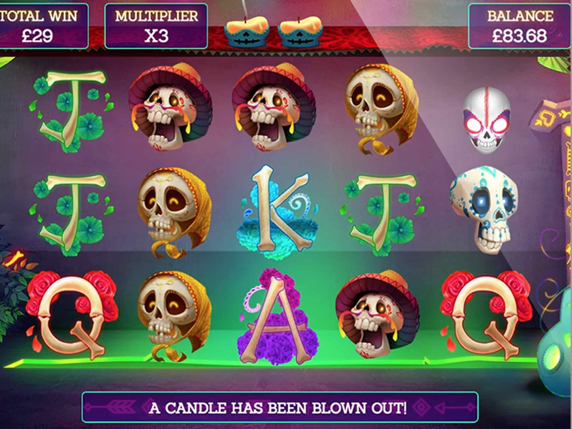 Pay of the Dead Slots Reels