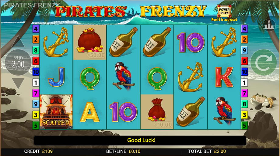 pirates' frenzy gameplay