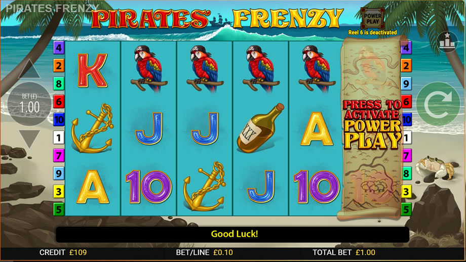 pirates' frenzy online slot