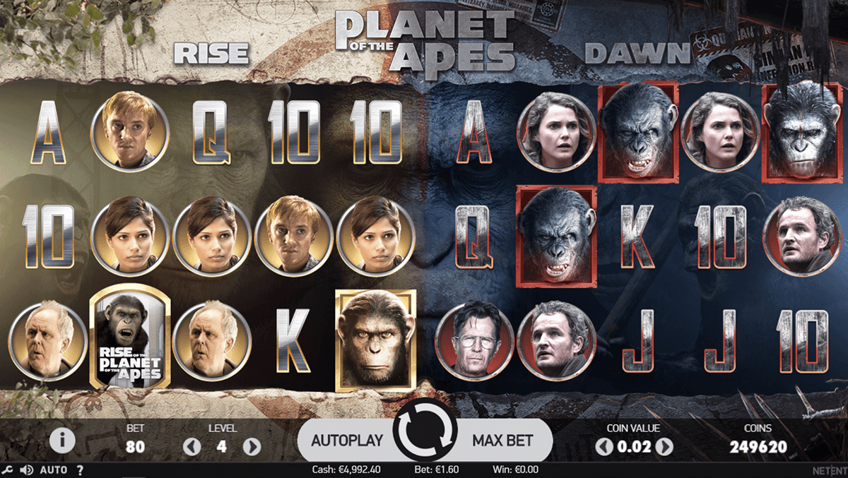 Planet of the Apes Slot Gameplay