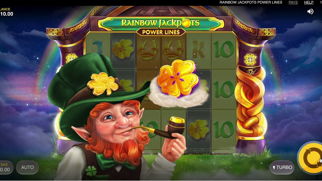Rainbow Jackpots: Power Lines Game Play