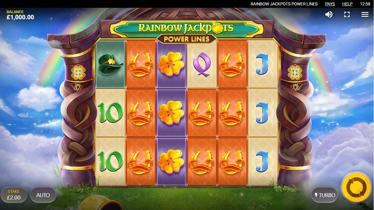 Rainbow Jackpots: Power Lines Casino Game