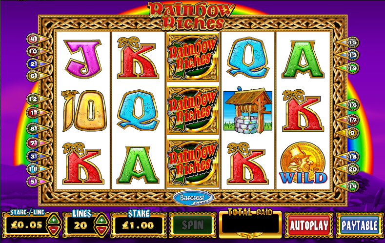 Rainbow Riches Slots Online