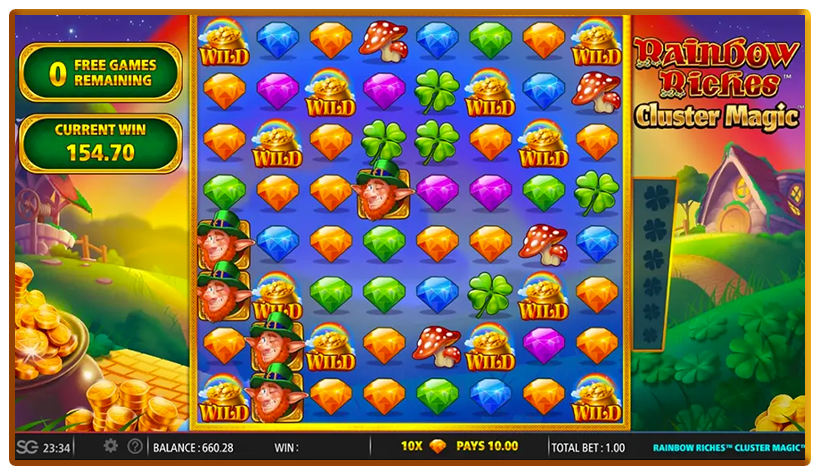 Rainbow Riches Cluster Magic Slots Reels