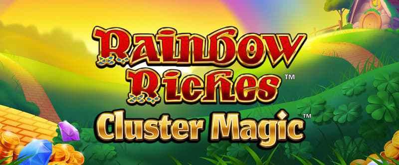 Rainbow Riches Cluster Magic Slot Logo Umbingo