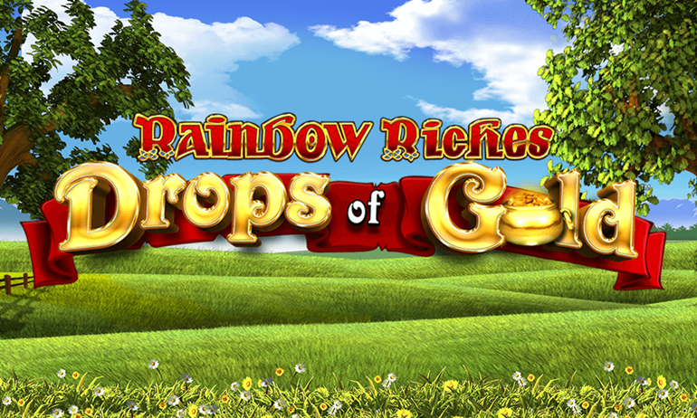 Rainbow Riches Drops of Gold Slot Banner