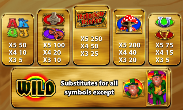 Rainbow Riches: Home Sweet Home Slots Symbols