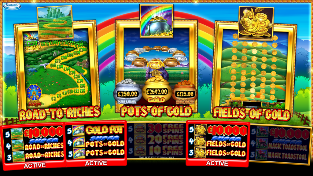 Rainbow Riches Pick n Mix Bonus Games