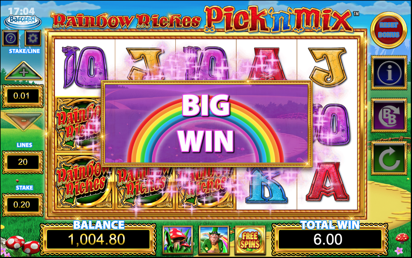 Rainbow Riches Pick n Mix Slots Games