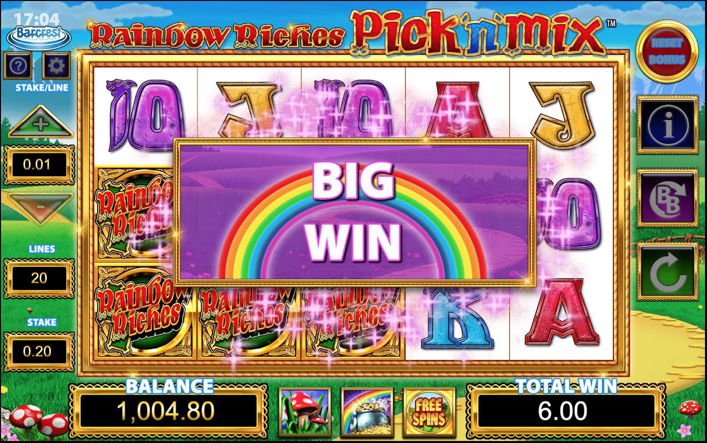 Rainbow Riches Pick n Mix Slots Games