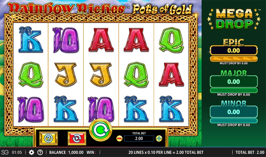 Rainbow Riches Pots of Gold Slot Game