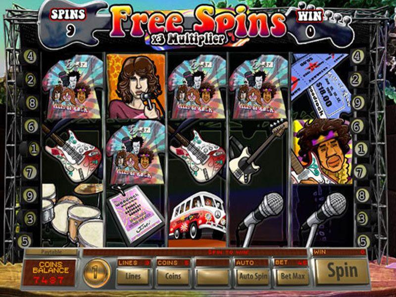 Reels of Rock Free Spins Slots