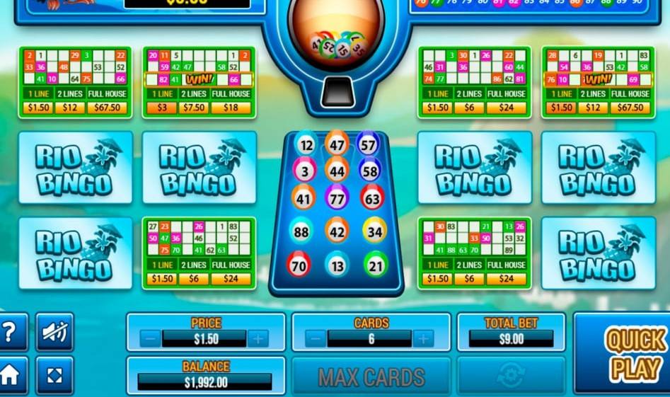 Rio Bingo Slot Gameplay